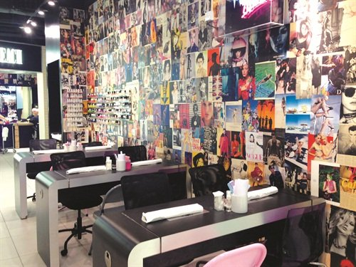 <p>Don't let the small space fool you. These three manicure tables get a lot of action while staff shuffles through a loyal clientele of nail art fans and mani-mavens.</p>