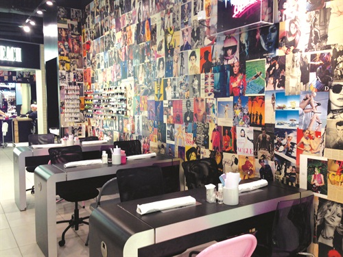 Don't let the small space fool you. These three manicure tables get a lot of action while staff shuffles through a loyal clientele of nail art fans and mani-mavens.