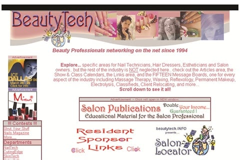 <p>Beautytech's current homepage takes readers into 750 web pages and 15 message boards.</p>