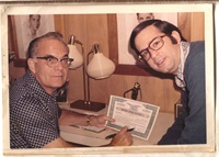<p><span>Harvey & Len at work</span></p>