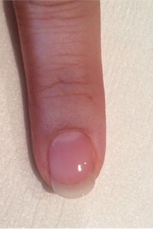 1. Apply A Base Coat To Properly Prepped Nails, Making Sure To Cap The Free  Edge. Cure For 30 Seconds In An LED Lamp.