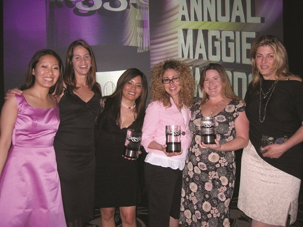 <p><span>(left to right) NAILS Jayna Rust, Mary Baughman, Susan Cegarra, Danielle Parisi, Hannah Lee, and Michelle Mullen were on-hand to accept the Maggie Awards.</span></p>