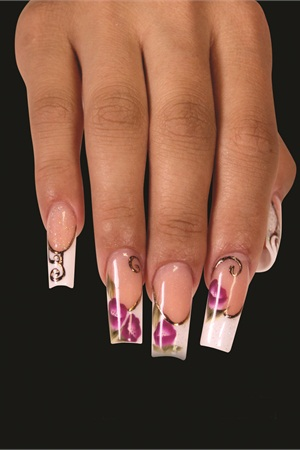 How-To: Acrylic Floral French by Mia Secret - Technique - NAILS Magazine