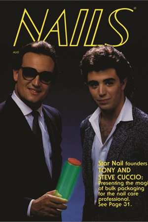 <p>Tony Cuccio and brother Steven graced NAILS' cover in 1985.</p>
