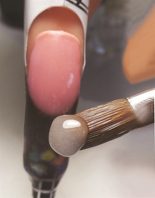 Lock In The Design By Covering Entire Nail With Tammy Taylor Crystal Clear Acrylic