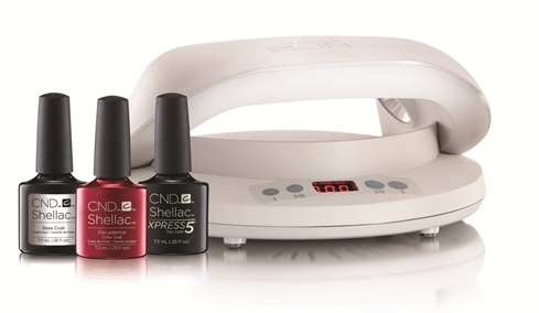 Cnd Shellac Application With Cnd Led Lamp Xpress5 Top Coat