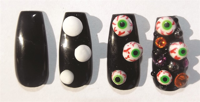 3 D Halloween Nail Art By Inm Technique Nails Magazine