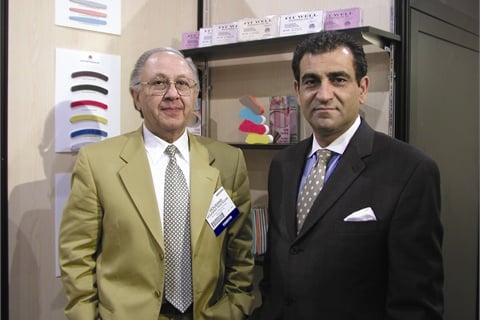 <p>Houshang Rastegar (left) of H&H with <a href=