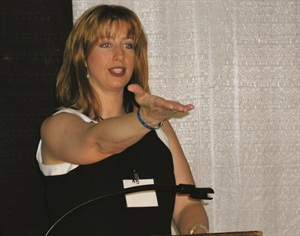 Amy Becker was excited beyond belief when she was named Nail Technician of the Year. However, she did manage to deliver a moving speech that recognized the caliber of the other finalist.
