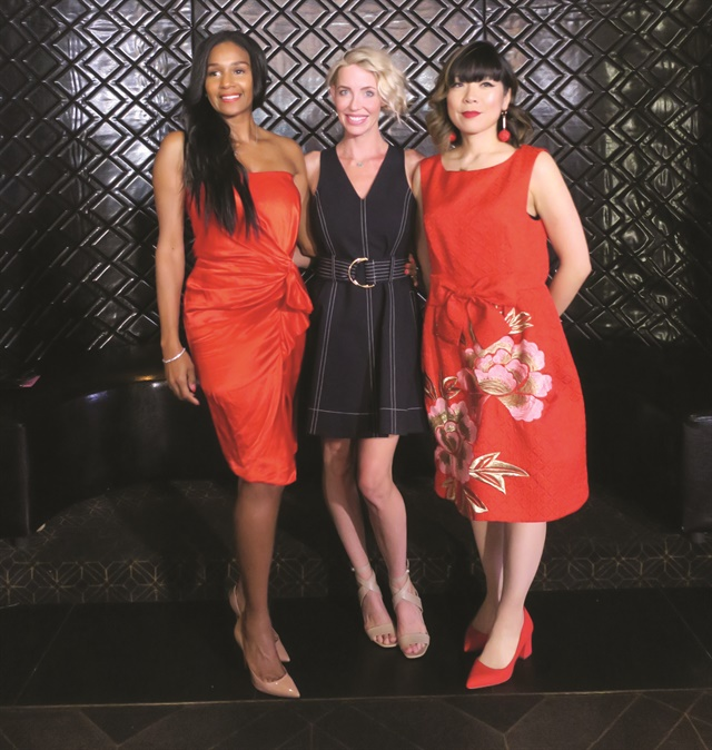 Excellence in Nail Styling nominees at the 2018 Daytime Hollywood Beauty Awards: Gina Edwards, Jenna Hipp, and Yoko Sakakura.