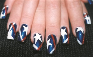 <p>Nail design by Sue Ellen Schultes (New Jersey)</p>