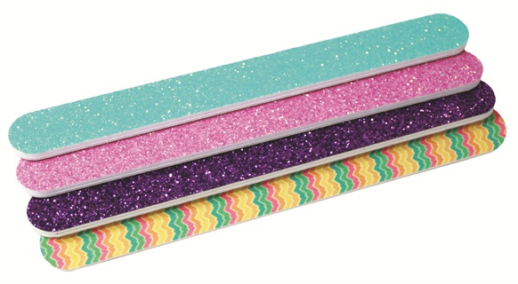 Tropical Shine Introduces New Glitter Nail Files That Retail For 1 50 More Than Just Eye Candy The Are Available In A Variety Of Grits And