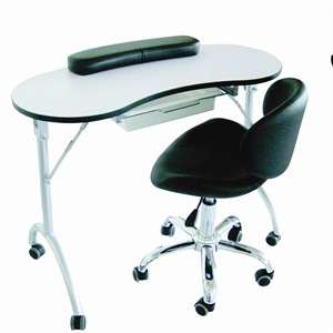 Manicure table encyclopedia nails magazine for Mobile nail technician table
