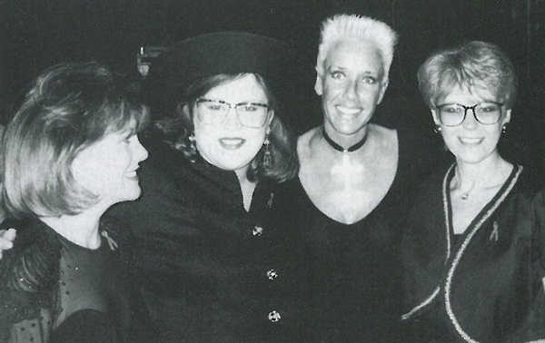 <p>[left to right] Jody Seagers, Lacinda Headings, Jan Bragulla, and Marti Preuss celebrating after the Nail Makeover winner was announced.</p>