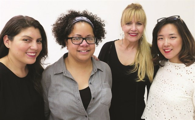 The NAILS and Modern Salon team at Artist Session. From left to right: NAILS executive editor Beth Livesay, Sorbello, Modern Salon art director Maggie Mulhern, and NAILS art director Yuiko Sugino.