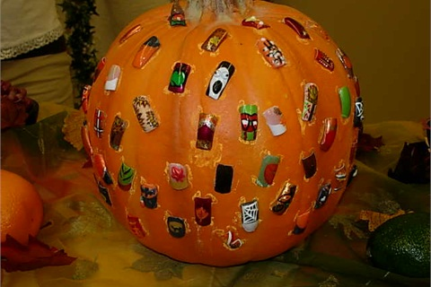 <p>Reaves' students entered these designs in a school Halloween nail art competition.</p>