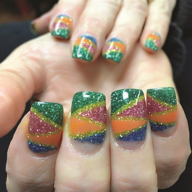 <p>Nail art services with dip system colored powders start at $85 at Tran's salon in Washington.</p>