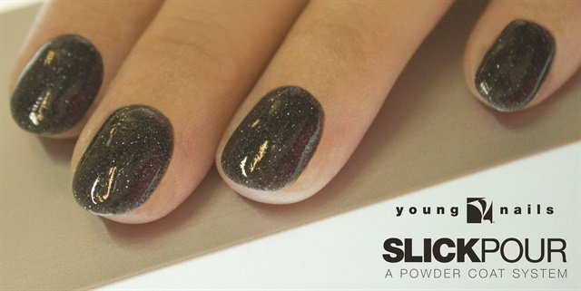 <p>In April this year, Young Nail introduced SlickPour to the professional market. Nails by educator Tracey Reierson.</p>