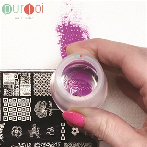 Use A Light Front To Back Rolling Motion Transfer The Image Note Purjoi Clear Nail Art Stampers Will Not Pick Up Images If Too Much Pressure Is Used