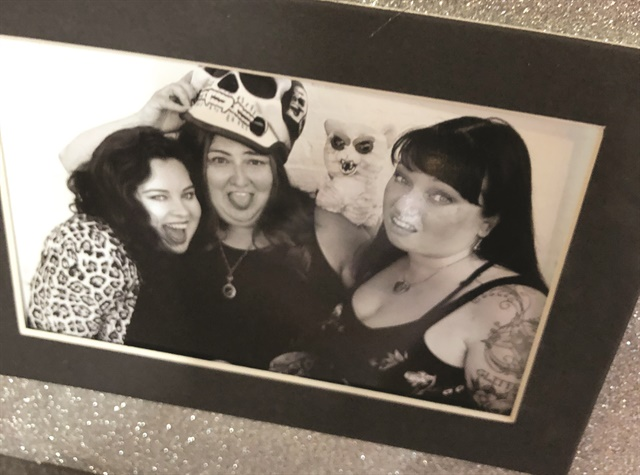 <p>The girls of the Nail Society posed for silly black-and-white photos that show their personalities. In this group shot: <br />Emily Hitchings, Kimberly Jones, and Nicole Franklin.</p>