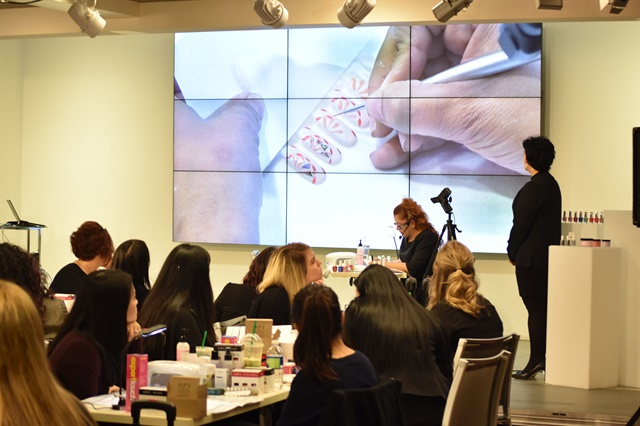 OPI Educators learn how to create designs using new collection.