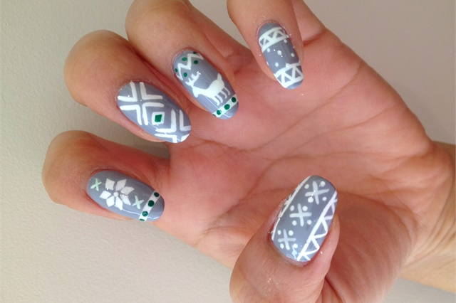 Ugly Sweater Party Nail Art Style Nails Magazine