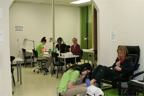 <p>Students are timed in order to improve their speed with real clients.</p>