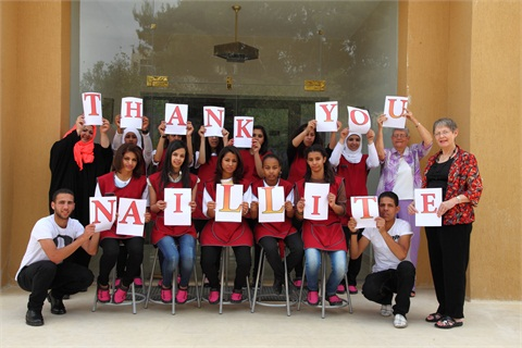 <p>Students and teachers alike thank Nailite for its generous product donation.</p>