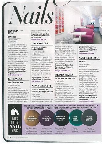 i>InStyle</i> Names Six Notable Salons - Style - NAILS Magazine