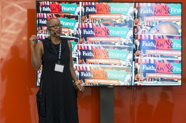 Maisie Dunbar presented her popular Faith, Fun, and Finance talk on Olympia Beauty Show's first day.