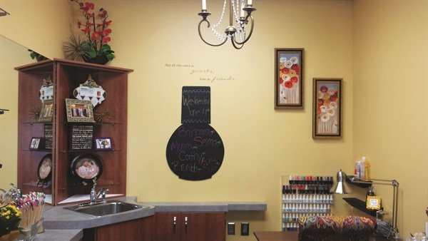 <p>Nicole Brock had fun personalizing her salon, Nail Nook, in a Sola Salon Studio in Palm Harbor, Fla.</p>