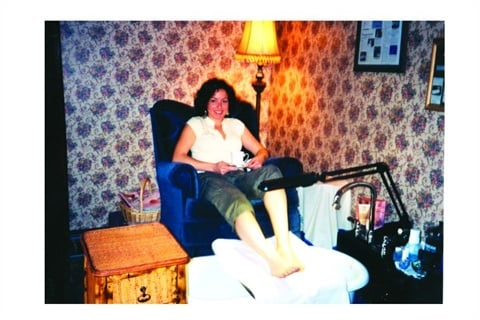 Wentzel misses this elevated pedicure set-up that she had at her former location.