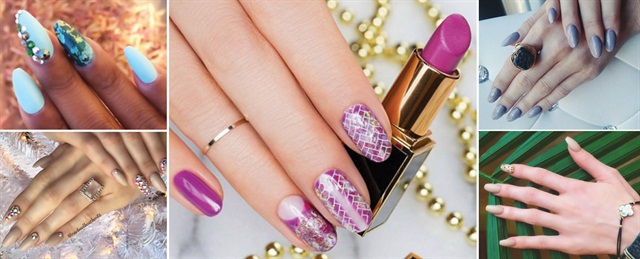 <p>Heather McLauren's instagram highlights her playful use of color and design including her Big Easy look for OPI (center image).</p>