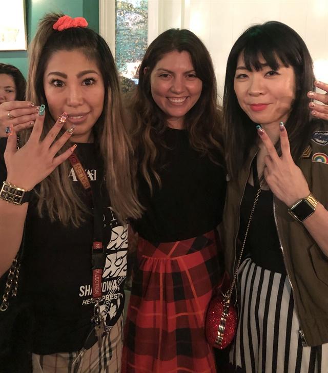 Brittney Tokyo, Beth Livesay, and Yoko Sakakura