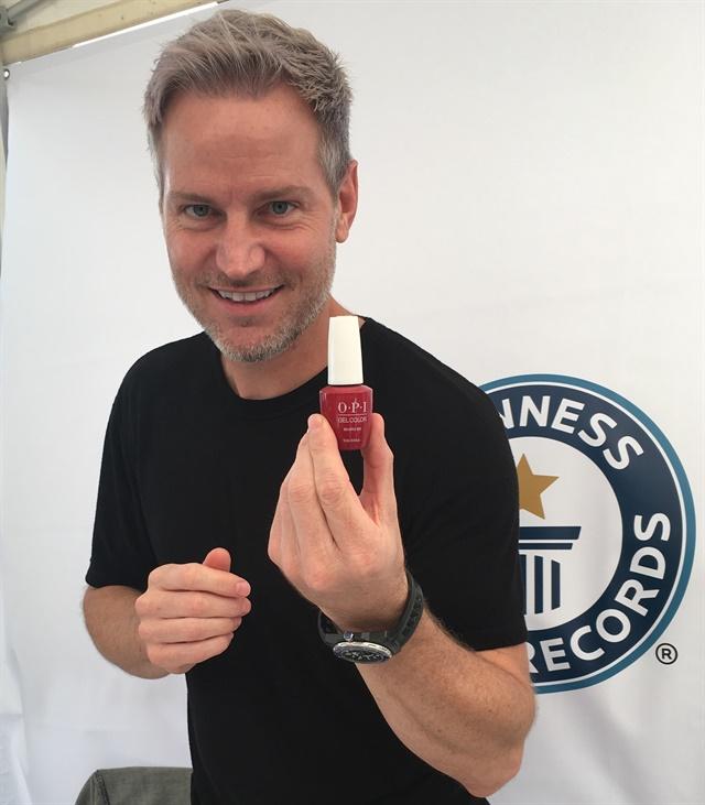 <p>OPI Global Nail Ambassador Tom Bachik</p>