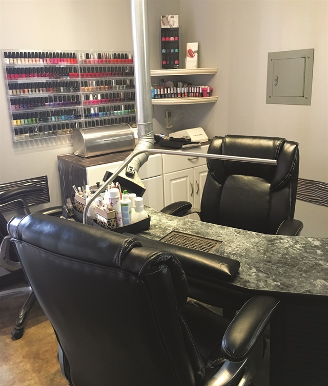 Sherri's space is located inside Studio 203, a full-service salon.