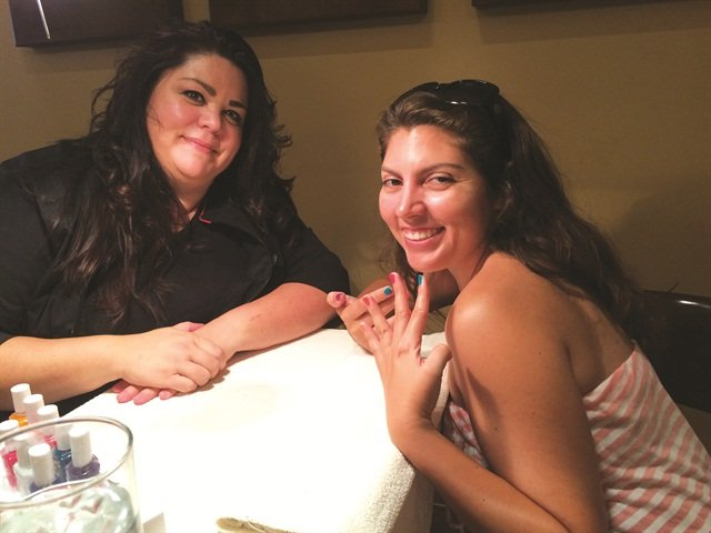 <p>That's me on the right, with nail tech Rachel Traver.</p>