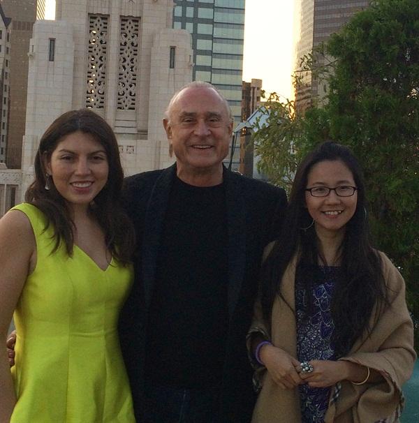 NAILS senior editor Beth Livesay, Jeff Pink, and VietSalon editor Anh Tran