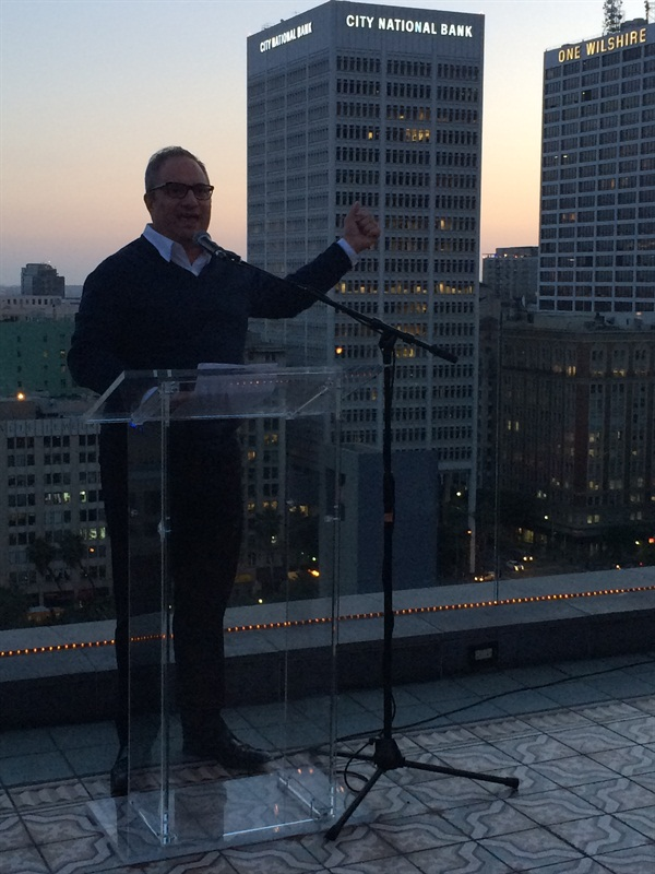 Orly Communications Manager John Galea and the view from Perch.
