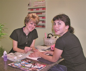 After being treated to a relaxing body treatment called the Steamy Wonder, senior editor Erin Barajas got a manicure at the nail bar from nail tech Aly Alford.