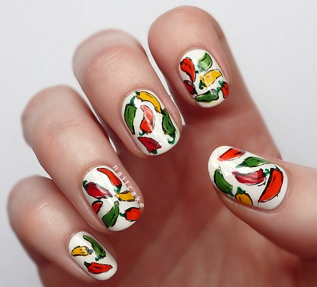 Nail Cake October 2013: Veggie Nail Art For World Vegetarian Day