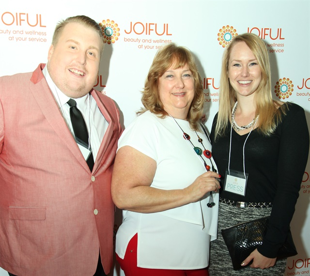 <p>Joiful's Chad Law (left), Elaine Suits, and NAILS' Shannon Rahn.</p>