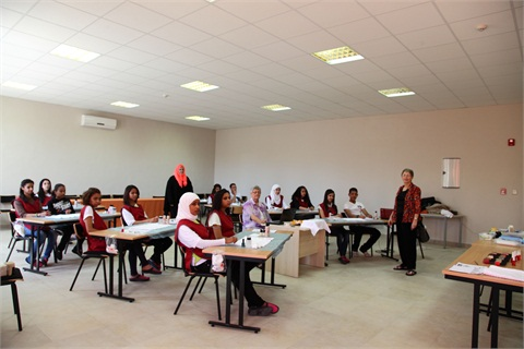 <p>The first class of 14 students are adult orphans from a custodial castle that King Hussein donated for the care of abandoned children. The castle feeds, clothes, and teaches them, and the Princess Taghrid Institute trains them in skills to support them to succeed.</p>