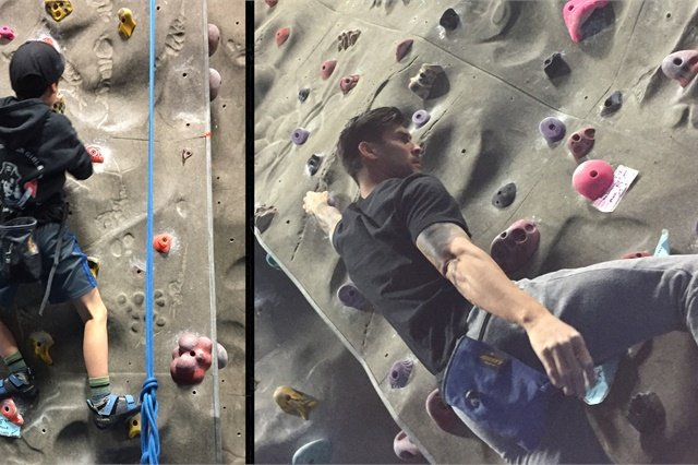 <p>In their spare time, the two like to spend time at the local rock climbing gym.</p>