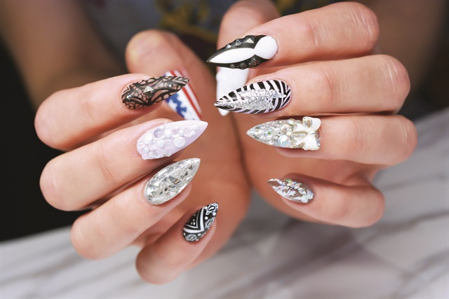 <p>Ryden's salon modified nail design is still fit for a diva.</p>