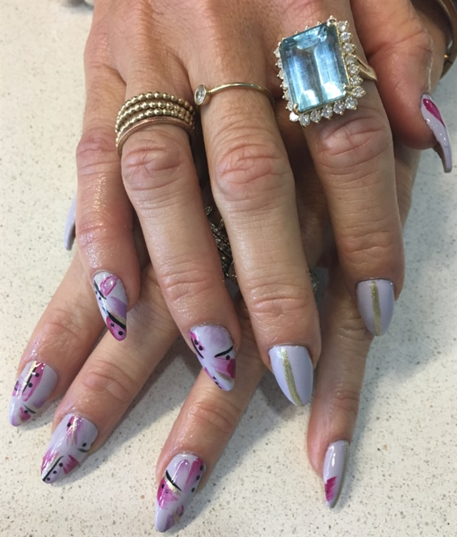 Danielle's nail art done by Amanda at Elli Nail Spa in Columbus