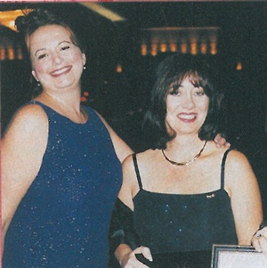 <p>Barb Wetzel (left) with Educator of the Year Tanis Darling.</p>