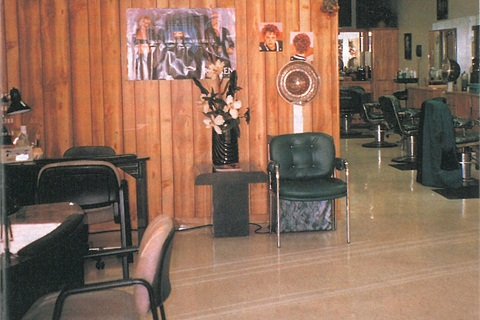 """<p>Nails are definitely """"up front"""" at Euro Stylecutters. Michele Baker and a part-time nail technician have workstations just inside the front entrance, as seen on the left. Behind Baker are facial and pedicure rooms. Baker and one hairstylist service all the pedicure clients.</p>"""