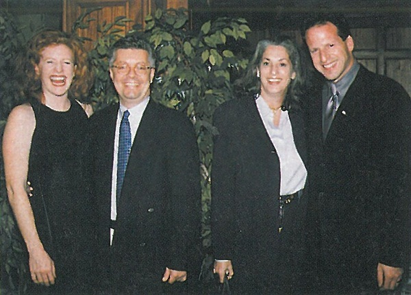 <p>(from left) Me, Max Sortino and Essie Weingarten of Essie Cosmetics, and Larry Gaynor of Nailco Salon Marketplace. </p>