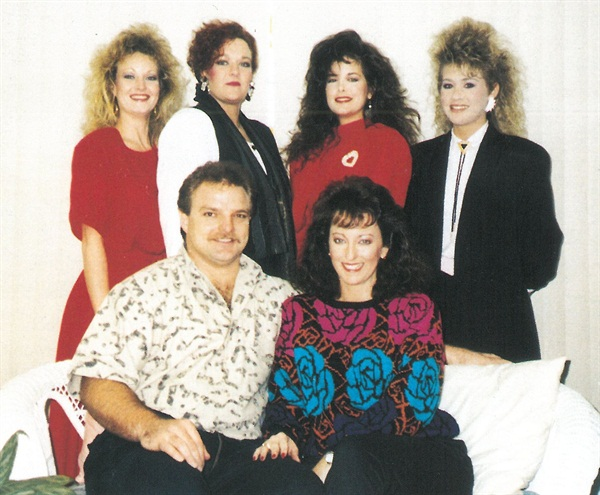 <p>Top row from left: Nail technicians Penny Embry, Louise Malone, Cherie Huet, and Tisha Taylor. Bottom ro: nail technician Steve Parker and owner Sharon Parker. </p>